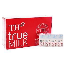 Thùng Sữa tươi tiệt trùng Hương dâu TH True Milk (180ml x 48 hộp)