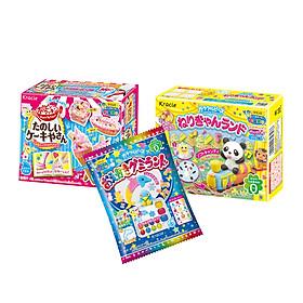 Combo 3 hộp kẹo sáng tạo popin cookin : kem + thế giới sắc màu + thế giới diệu kỳ (ngẫu nhiên)