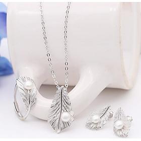Bộ Trang Sức Ngọc Trai Lông Vũ BNT-610 Bảo Ngọc Jewelry (Freesize)