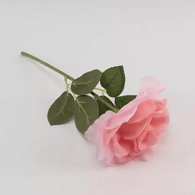 Hoa giả-Cành Hoa hồng Đơn màu Hồng nhạt