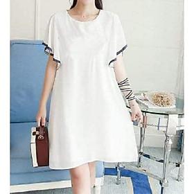 Đầm bầu đẹp váy bầu xinh tay cánh tiên trắng DN19072508
