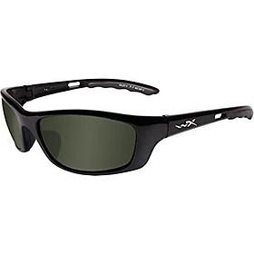 Wiley X P-17 Sunglasses, Polarized Smoke Green, Gloss Black