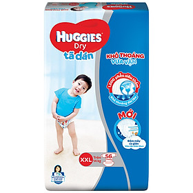 Tã Dán Huggies Dry Gói Cực Đại XXL56 (56 Miếng) - Bao Bì Mới