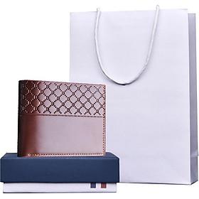 Ví, bóp da nam cao cấp có hộp và túi làm quà tặng