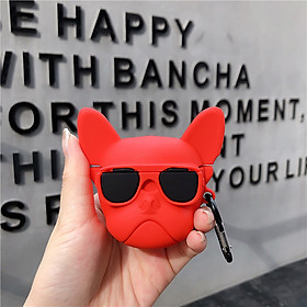 Wireless Earphone Cover Protective Case with Cute Dog Style Airpods Earphone Silicone Protective Cover