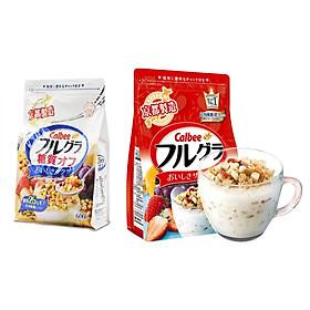 Set 02 túi ngũ cốc trái cây ăn liền Calbee (loại 600gr & 700gr) - Nhập khẩu Nhật Bản