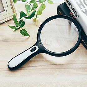 Kính lúp cầm tay 145mm có đèn đọc sách báo, hồ sơ
