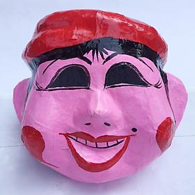 Mặt nạ trung thu truyền thống màu hồng - Mẫu phụ nữ