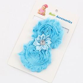 Băng đô turban hoa to cao cấp AHBĐ25 bé gái