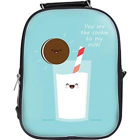 Balo Unisex In Hình Cặp Đôi Cookie Và Sữa - BLFO063