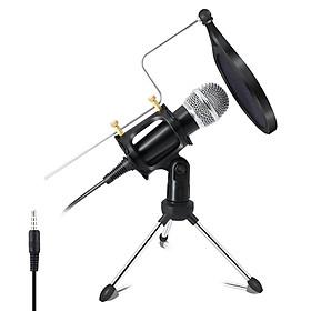 Ghi âm Micro tụ điện thoại di động Micrô 3,5 mm Micrô cho máy tính PC Karaoke mic cho iphone Android