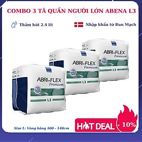 [Thấm hút 2.4 lít] Combo 3 tã quần người lớn Abena Abri Flex Premium L3 (14 miếng) - Giảm 10% - Nhập Khẩu Đan Mạch