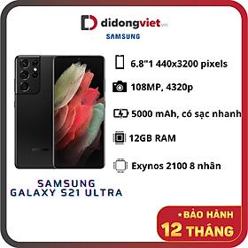 Điện Thoại Samsung Galaxy S21 Ultra 5G (12GB/128GB) - Hàng Chính Hãng