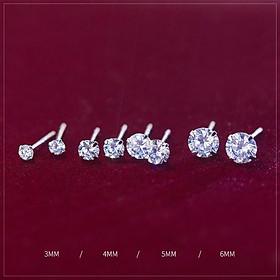 Khuyên tai bạc nụ đá Bông tai bạc nữ Duyson Silver