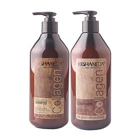 Cặp dầu gội xả Top Haneda Collagen Shampoo & Conditioner phục hồi siêu mượt tóc 500ml - Hàng chính hãng-1