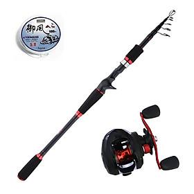 Bộ cần câu Lure máy ngang chính hãng - Cần câu cá - Tặng cước CL01