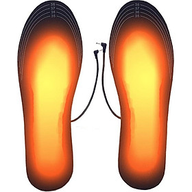Portable USB Heating Insoles Electric Foot Warmer Washable Charge Support Clipping Heating Insoles