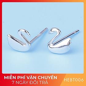 Bông hoa tai nữ bạc s925 cao cấp HEBT006 BH trọn đời