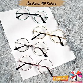 Gọng kính cận ngố tròn Kính mát giả cận Nobita Oval form Hàn Quốc nam nữ thời trang K4