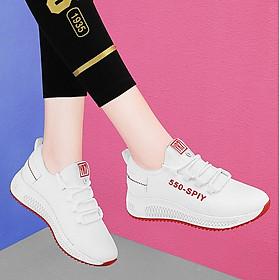 Giầy thể thao nữ, giày sneaker nữ buộc dây V202