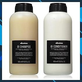 Bộ dầu gội xả thư giản suôn mượt Davines OI Shampoo Conditioner Italy 1000ml