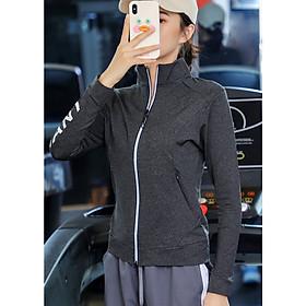 Áo khoác thể thao nữ Louro AKL11, mẫu áo khoác ulzzang năng động, trẻ trung