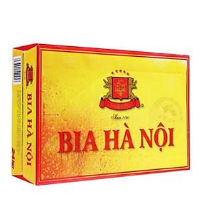 Thùng bia Hà Nội 24 lon x 330ml