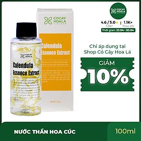 Nước thần hoa cúc 2in1 Cocayhoala se khít lỗ chân lông, trẻ hóa làn da sau 10 ngày Calendula Essence Extract 100ml