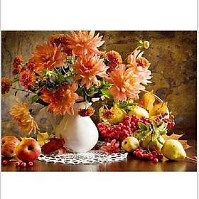 Tranh sơn dầu số hoá tự vẽ - Tĩnh vật hoa quả