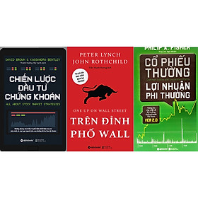 Combo 4 cuốn - Chiến lược đầu tư chứng khoán sách + Cổ phiếu thường lợi nhuận phi thường sách + Trên đỉnh phố wall