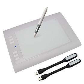 Bảng Vẽ Đồ Họa Cảm Ứng Điện Tử H58L Tặng Kèm 02 Đèn LED USB Cao Cấp AZONE