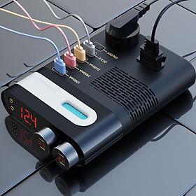 Bộ chuyển đổi nguồn điện trên ô tô từ 12,24V sang 220V có 4 cổng USB và bộ tắt nguồn, cầu chì chống cháy nổ