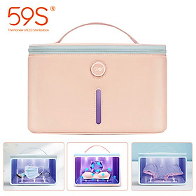 59S UV Light Sterilizing Bag P26 Sanitizing UV Light Cleaner Portable Multifunctional UVC LED Sterilizer Bag Bottle