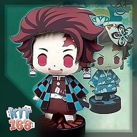Mô hình giấy Chibi Tanjiro Kamado Ver 4 (X2) – Demon Slayer (Kimetsu No Yaiba)