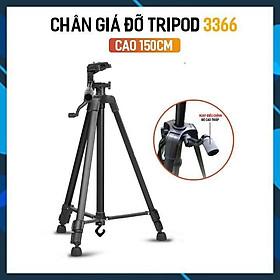 Tripod điện thoại 3366 CAO CẤP Giá đỡ máy ảnh/ĐT cao 150cm tháo lắp dễ dàng tiện dụng để mang đi chơi(