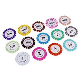 14 Chiếc Chip Poker Sòng Bạc Đồng Tiền Chuyên Cung Cấp Chip Poker Board Game