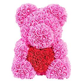 Bó Hoa Hồng Nhựa Hình Gấu