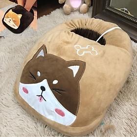 Túi Sưởi Ấm Chân Hình Mèo - Dùng Điện Đa Năng - Màu Da - Mẫu TSC17