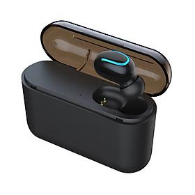 HBQ-Q32 Single Ear Headphones Wireless Bluetooth 5.0 In-ear Headset Magnetic Music Earnuds Sport Earphones with Charging
