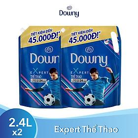 Combo 2 Nước Xả Vải Downy Expert Thể Thao Dạng Túi 2.4L