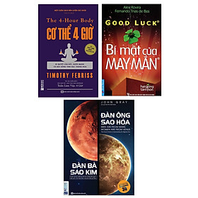 Combo Sách Kỹ Năng Sống: Bí Mật Của May Mắn (Khổ Nhỏ) + Cơ Thể 4 Giờ - Bí Quyết Cân Đối, Khỏe Mạnh Và Đời Sống Tình Dục Thăng Hoa + Đàn Ông Sao Hỏa Đàn Bà Sao Kim (Bộ 3 Cuốn Sách Bán Chạy Nhất Trong Tháng / Tặng Kèm Bookmark Happy Life)