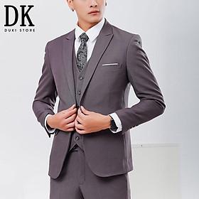 GIẢM 75% Bộ vest nam Hàn Quốc đẹp màu xám giá siêu rẻ - DUKI STORE