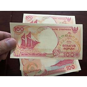Tiền cổ Indonesia, 100 Rupiah thuận buồm xuôi gió 1992, phong thủy sưu tầm