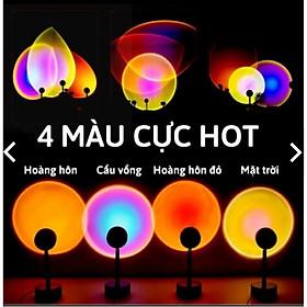 Đèn Hoàng Hôn, Sunset, TIKTOK Tích Hợp 4 Màu Trong 1 Đèn chiếu cầu vồng trang trí, chụp hình, quay TikTok hot trend tích kiệm chi phí, ánh sáng lớn