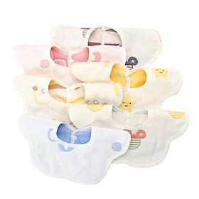 Antarctic (Nanjiren) 360 degree rotating baby saliva towel bib cotton gauze baby bib newborn children's rice bag single strip