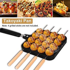 16 Holes Octopus Grill Tray Cooking Baking Plate Takoyaki Kitchen Maker Mold