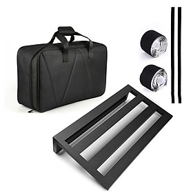 Large Size Guitar Effect Pedal Board Aluminum Alloy Pedalboard 19.7×11 Inch with Carrying Bag