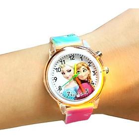Đồng hồ bé gái ELSA ĐÈN LED 7 MÀU dây silicone