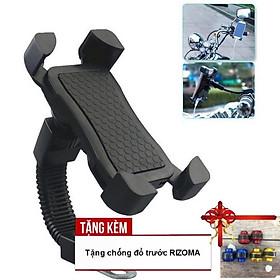 Giá đỡ điện thoại gắn trên mô tô, xe máy có USB sạc điện thoại A220-TK35 - Tặng kèm chống đổ trước tròn trơn