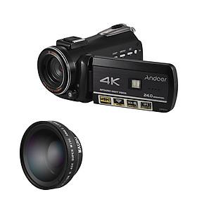 Máy Quay Video Kỹ Thuật Số Andoer AC3 Kèm Máy Ghi Âm DV (4K UHD 24Mp) (0.45X IPS 3.1Inch)